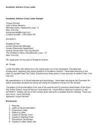 faculty adviser cover letter