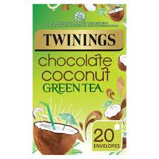 twinings green tea chocolate coconut 20 per pack from ocado