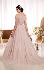 Ball Gown Wedding Dresses Uk Floor Length Cap Sleeves Ethereal Tulle Ball Gown Wedding Dress