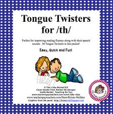 th tongue twisters for carryover by the polka dotted slp tpt