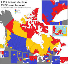London Canada Map by Canadian Election Atlas Ekos Seat Forecast For The 2015 Federal