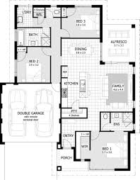 2 Bedroom Ranch Floor Plans by 3 Bedroom House Floor Plan Home Design Ideas