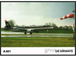 bureau v inaire concorde postcard us airways a321 jjpostcards com