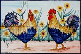 roosters kitchen backsplash mural tiles italian tile mural store