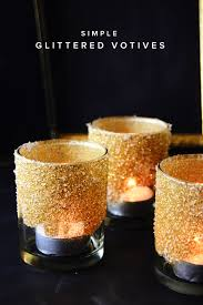 simple diy glitter votives table settings simple diy and craft