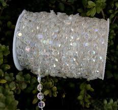 How To Decorate A Chandelier With Beads Aliexpress Com Buy Iridescent 99ft 30meter 10mm Hanging