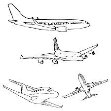 aircraft pencil sketch by hand stock vector image 80843758