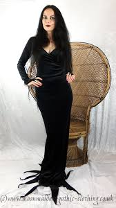 Morticia Addams Dress Morticia Dress Morticia Addams Costume By Moonmaiden Gothic Clothing