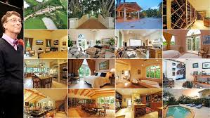 top 15 most expensive celebrity homes bill gates gates and bedrooms