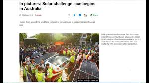 Challenge News Au Australia News In Pictures Solar Challenge Race Begins In