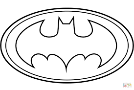 batman symbol coloring page online for kid 7402