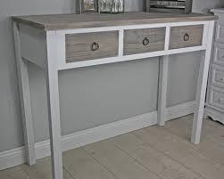 Schreibtisch Schmal Holz Elbmöbel Konsolentisch Massivholz Akazie Konsole Mit 3 Schubladen