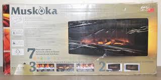 new 42 u2033 muskoka curved wall mount electric fireplace heater newest