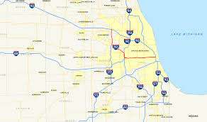 Downtown Chicago Map by Interstate 290 Illinois Wikipedia