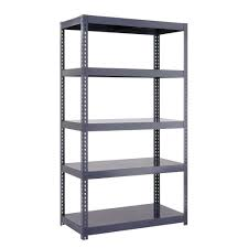 Keter Plastic Shelving Hdx 36 In W X 72 In H X 18 In D 5 Shelf Plastic Ventilated