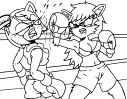 amy rose boxing coloring page wecoloringpage