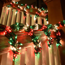 Banister Christmas Garland Christmas Light Garland Christmas Lights Decoration