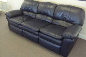 Navy Blue Leather Sofas by 90