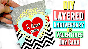 day cards for him diy layered valentines day card diy anniversary cards for him