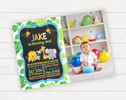 jungle birthday invitation printable jungle party safari