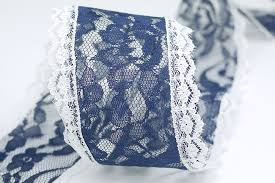 bulk lace ribbon navy wired lace ribbon bulk ribbon supply king