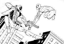 deadpool coloring pages spiderman coloringstar