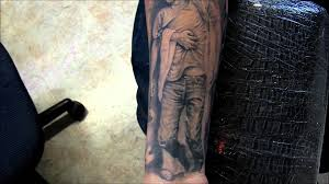 75 jesus skulls red and black tattoo sleeve free hand by