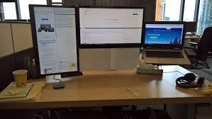 vesa mounted laptop docking station triple monitor setup diy