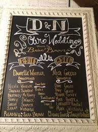 chalkboard wedding program diy wedding chalkboard program hometalk