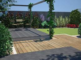 garden ideas garden design patio with wooden deck pattern and
