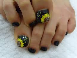sunflower toenail design u2026 pinteres u2026