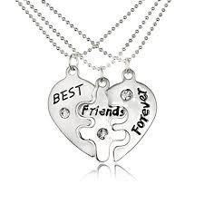 friendship heart necklace images Bestjybt best friends forever split heart pendant jpg