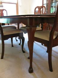queen anne dining room set pennsylvania house cherry queen anne dining room table and rare