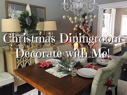 Christmas Dining Room Decorations - christmas diningroom decorate with me dollar tree u0026 more youtube