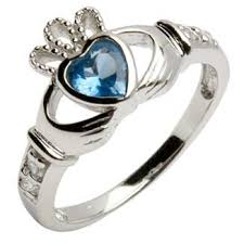 birthstone ring silver claddagh birthstone ring silver claddagh rings