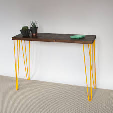 hairpin leg console table yamin hairpin leg console table eco furniture reclaimed wood