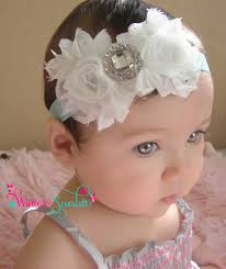 infant headbands baby headbands white rosette rhinestone flower s on aqua
