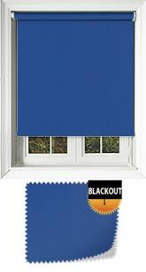 Blue Blackout Blinds Blackout Cordless Roller Blinds Child Safe Spring Action