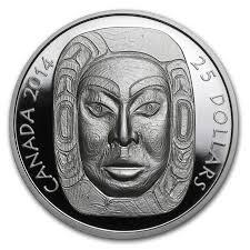 moon mask 2014 canada 1 oz silver 25 matriarch moon mask uhr gold