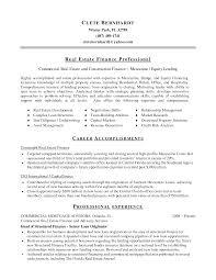 real estate investment resume sample sidemcicek com