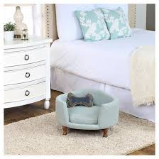 Dog Bed Nightstand Homepop Decorative Curved Mini Love Seat Dog Bed Teal Target