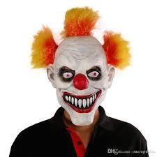 stephen king it killer clown mask mens latex u0026 red hair