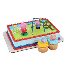 basketball cake toppers peppa pig cake kit and 24 cupcake topper rings toys