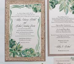 succulent wedding invitations inspirations handmade wedding invitations momental