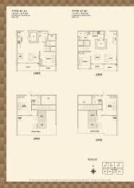 blk 97 parc rosewood parc rosewood block 97 2 bedroom penthouse type 97 a1 97 b1 floor plans