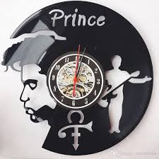 theme clock fashion creative clock cd vinyl record wall clock prince theme