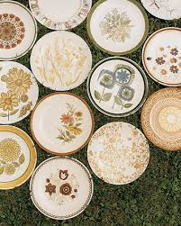 vintage wedding ideas second dishes and tableware vintage