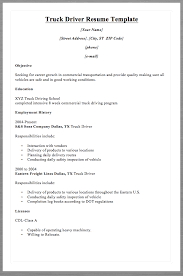 truck driver resume template macrobutton dofieldclick your name