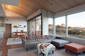 window seat sea ranch residence midcentury living room san