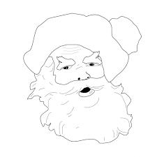 santa claus coloring page free stock photo public domain pictures
